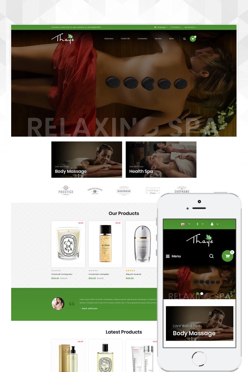 Thaye - Massage Parlour Template OpenCart №80378