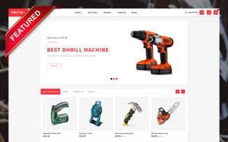 Proto Autoparts & Tools Store OpenCart Template