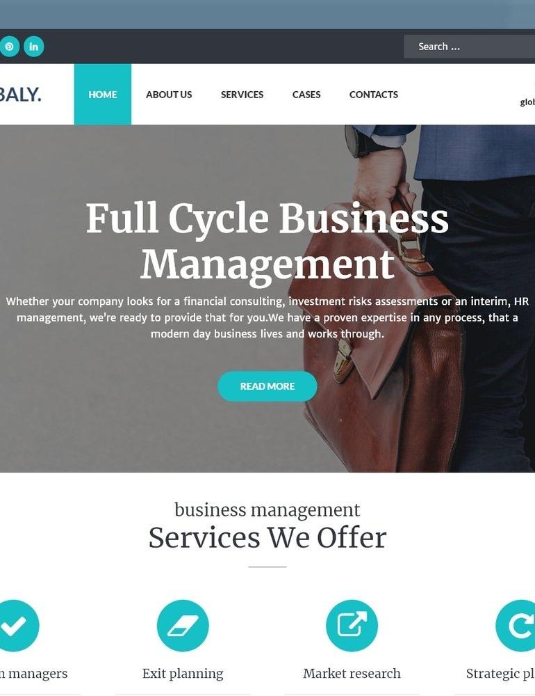 Globaly - Business Multipurpose Modern Elementor WordPress Theme