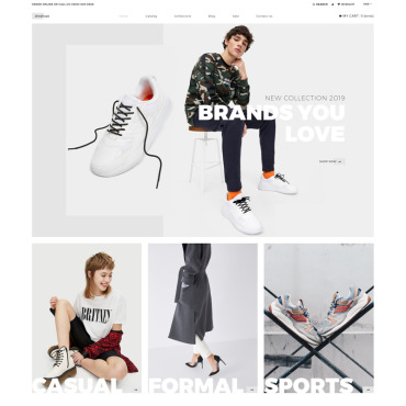 Купить  пофессиональные Shopify шаблоны. Купить шаблон #80483 и создать сайт.