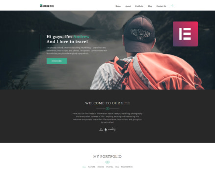 Societic - Lifestyle Blog Multipurpose Modern Elementor WordPress Theme