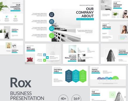 Rox Business Presentation PowerPoint Template