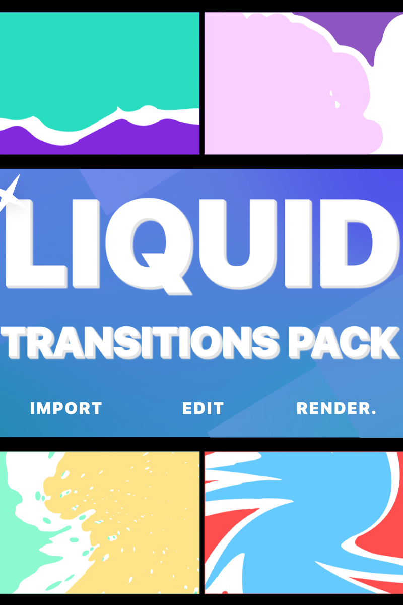 """After Effects Intro """"Liquid Transitions Pack For"""" #80435"""