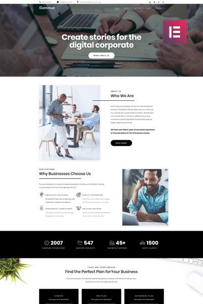 Commuz - Business Multipurpose Modern Elementor
