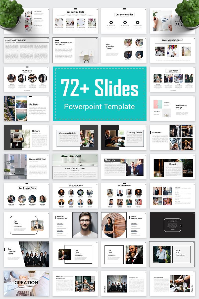 Creation - Business PowerPoint sablon 80479