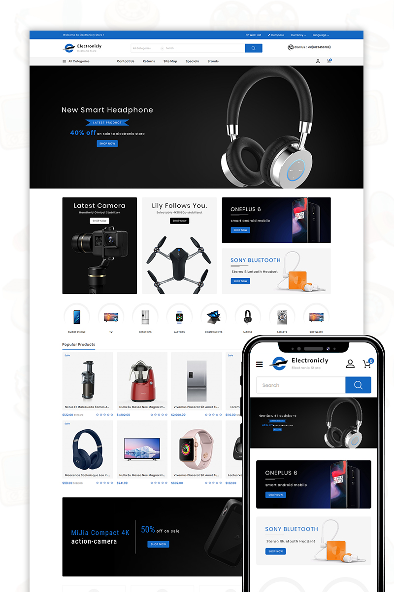 Electronicallly - The Shopping Mall OpenCart Template - screenshot