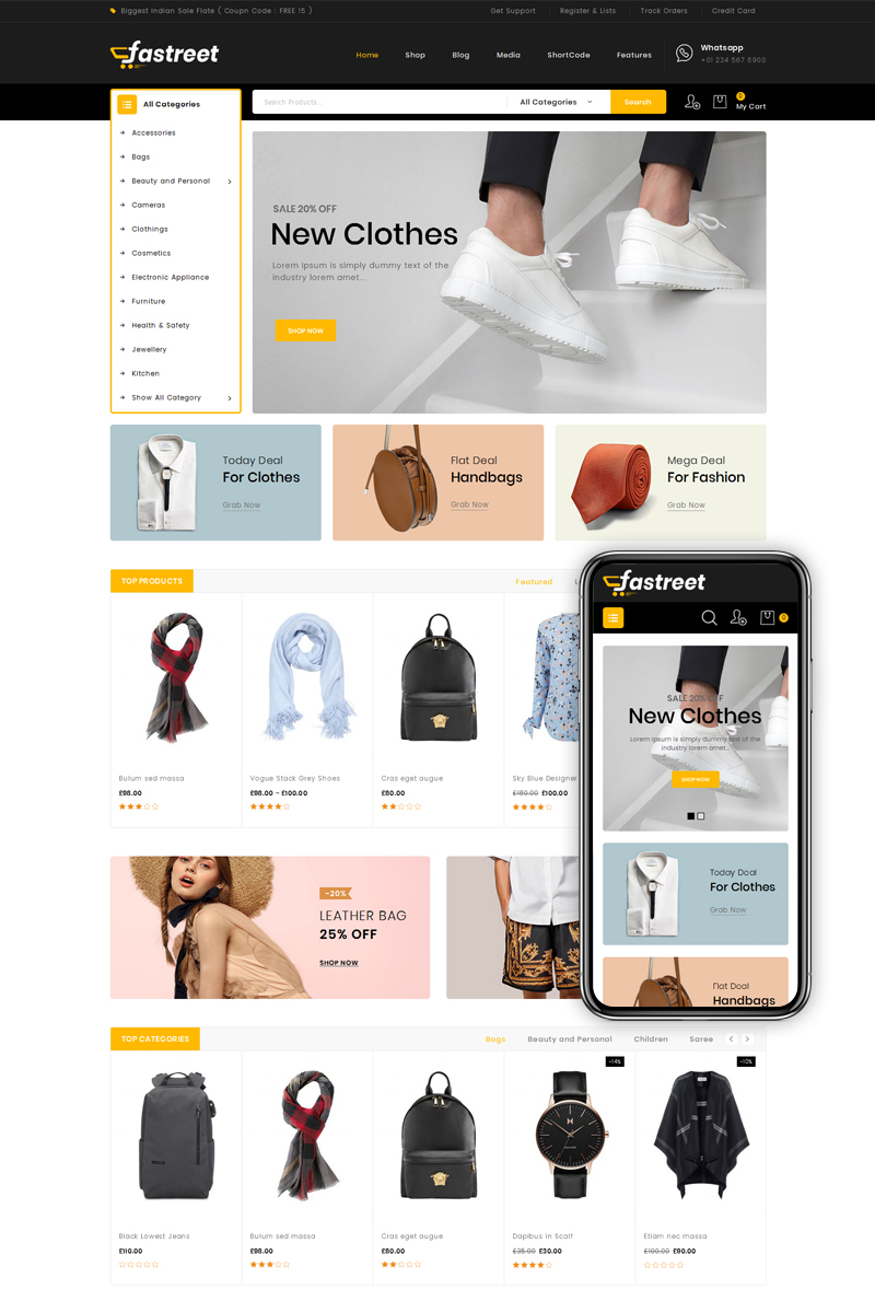 Fastreet - Multi Store WooCommerce sablon 80401
