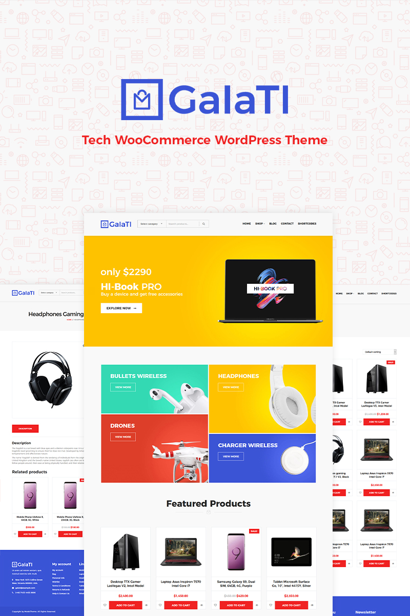 Galati - Tech WooCommerce Theme - screenshot