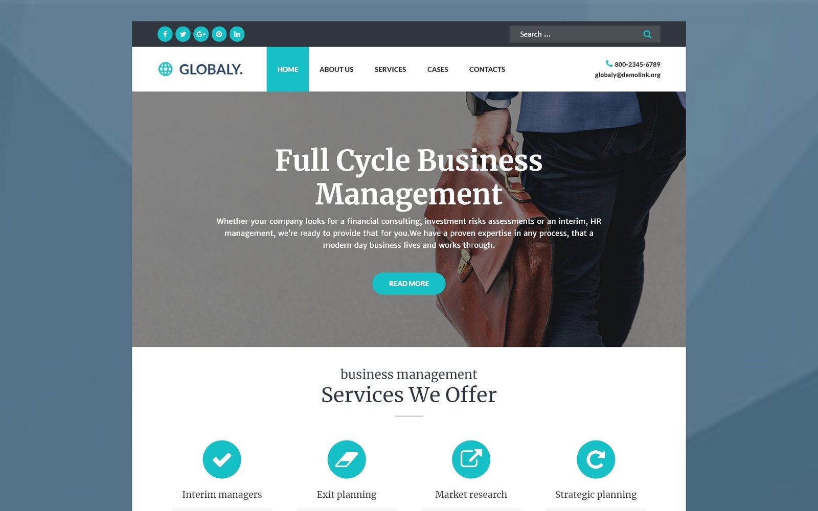 Globaly - Business Multipurpose Modern Elementor WordPress Theme