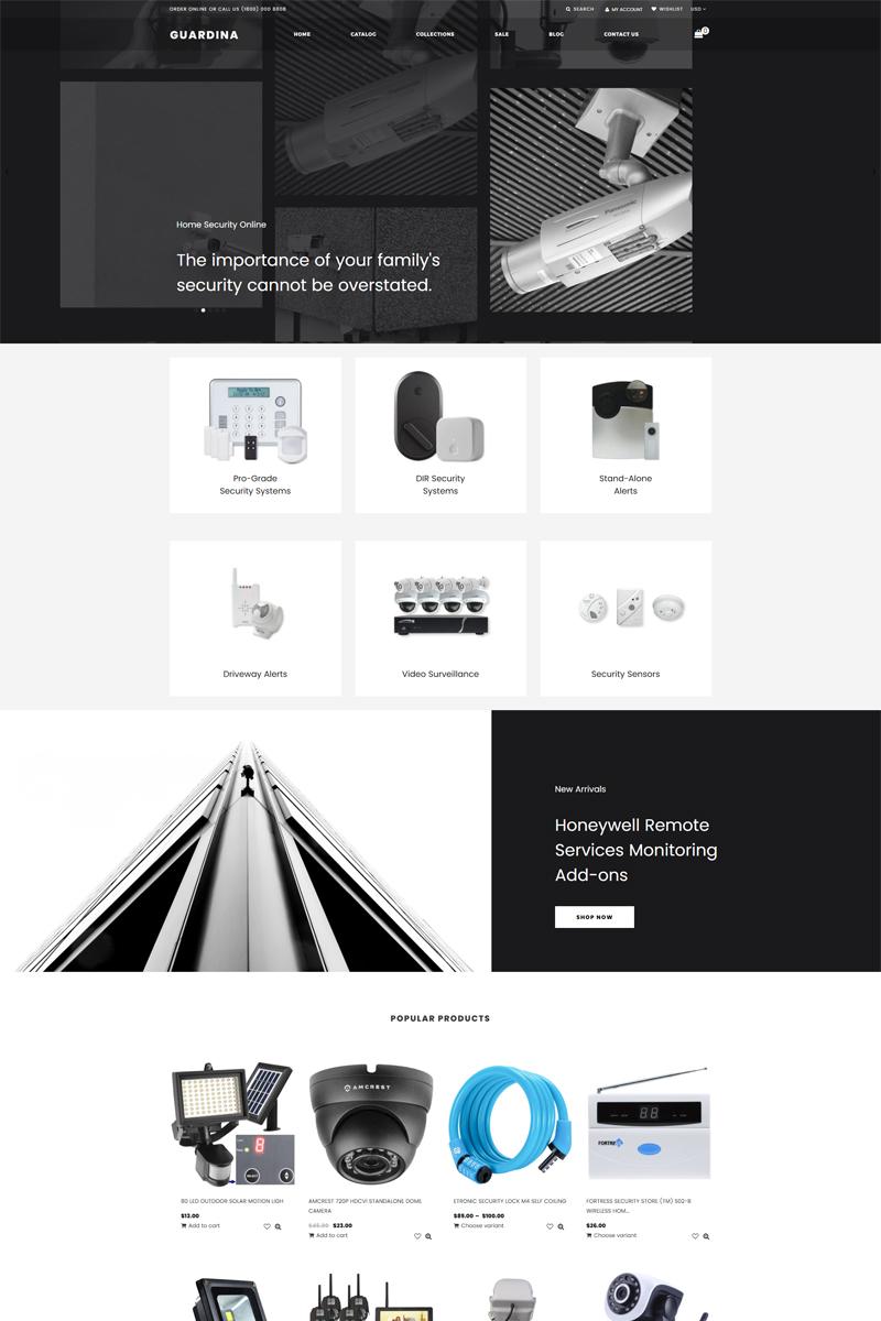 """Guardina - Security eCcommerce Modern"" Responsive Shopify Thema №80430"