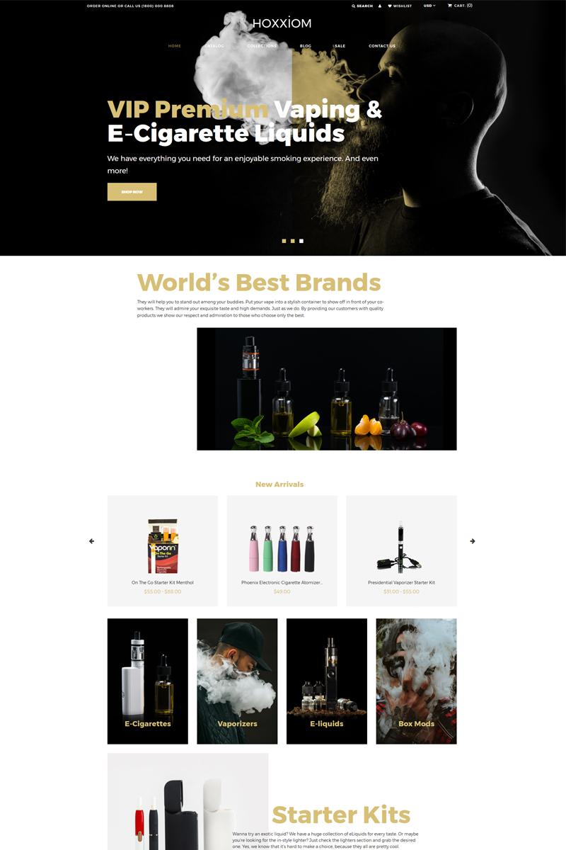 """Hoxxiom - Electronic Cigarettes Modern"" - адаптивний Shopify шаблон №80482"
