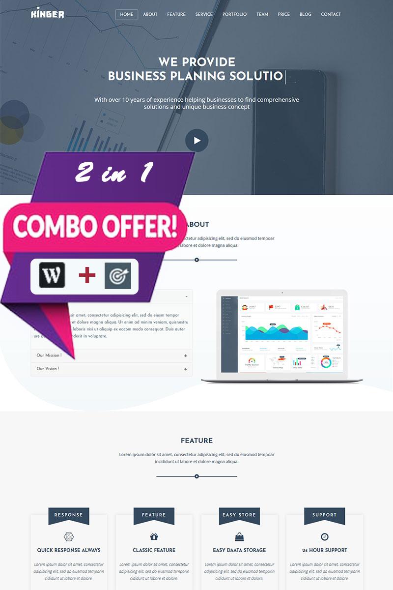 """Kinger - Personal Business Portfolio Landing"" - адаптивний WordPress шаблон №80472"