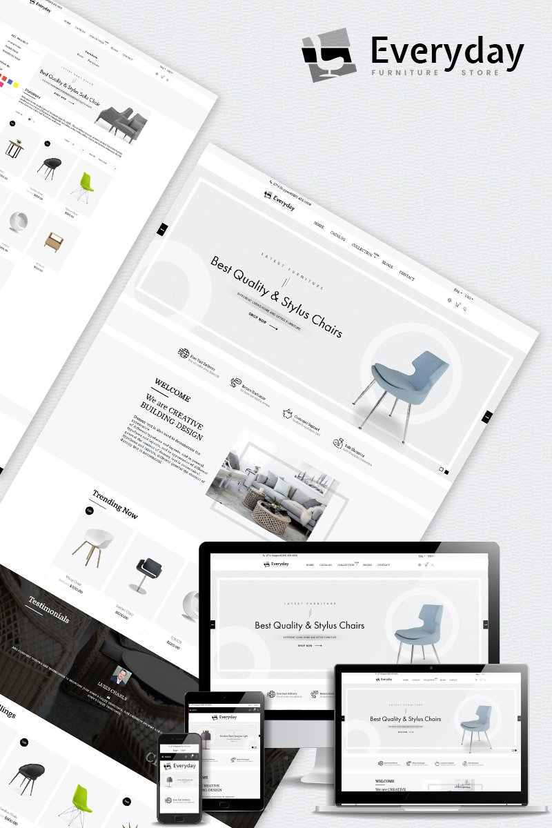 "Modello Shopify Responsive #80495 ""Everyday - Furniture Multipurpose"""