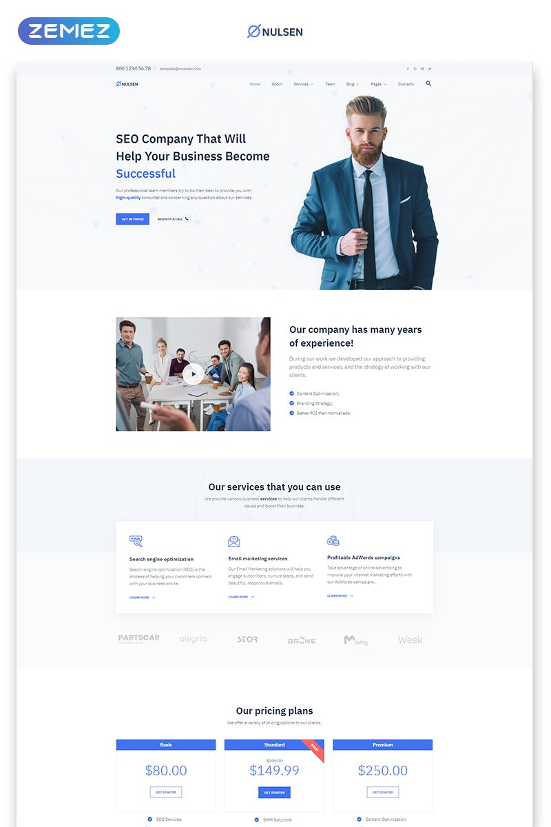 Nulsen - SEO Company Clean Multipage HTML5 Website Template