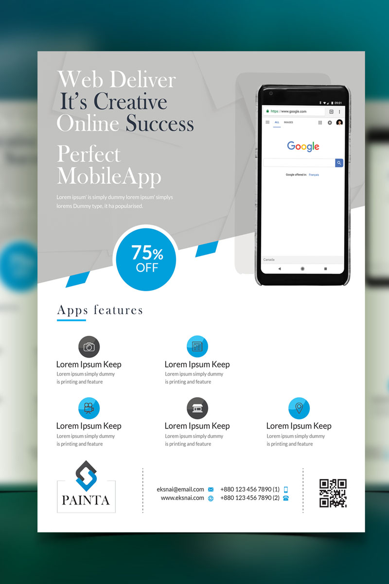 Painta - Minimals Flyer Corporate Identity Template - screenshot
