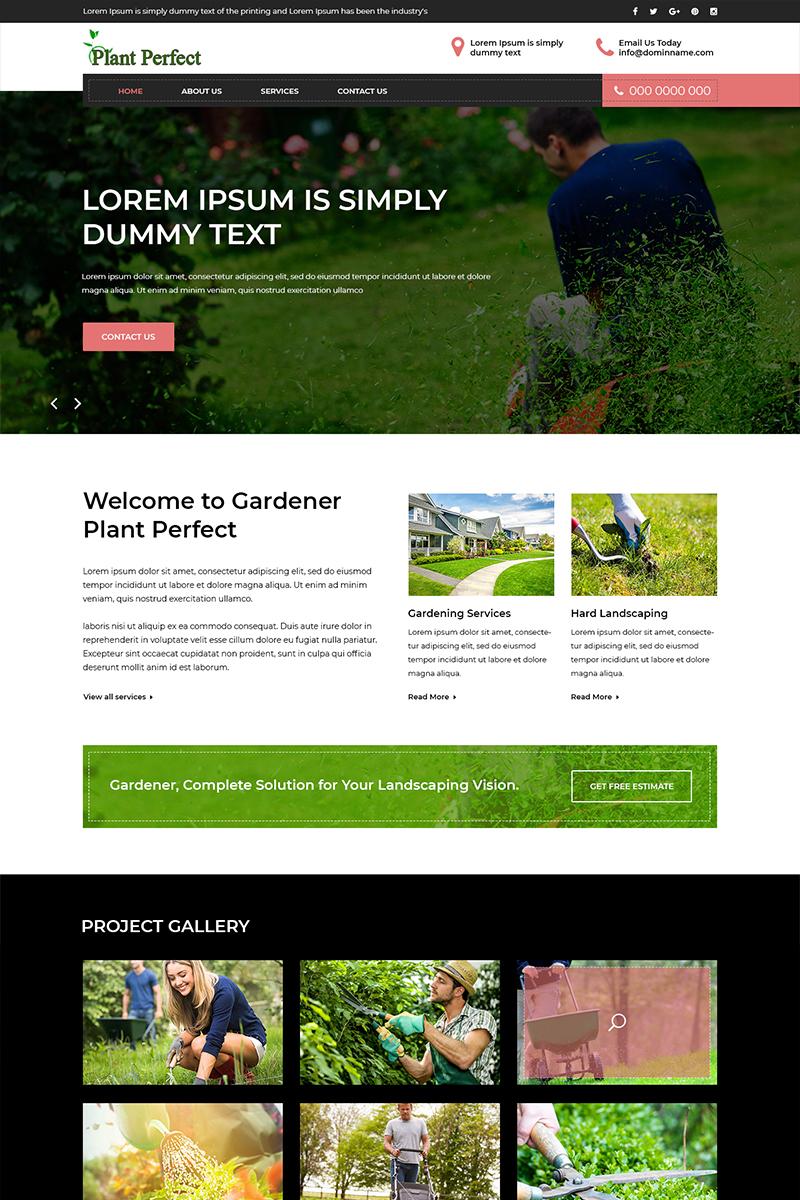 "PSD šablona ""Plant Perfect - Gardening"" #80411"