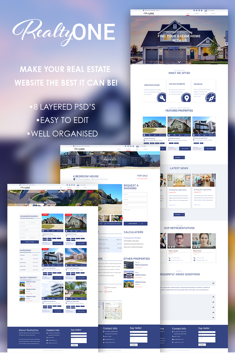 RealtyOne Template Photoshop №80406