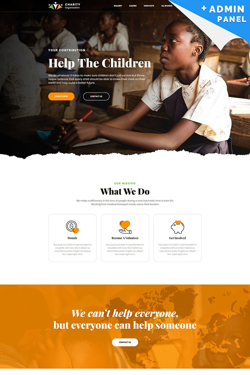 Responsivt Charity - Foundation Landing Page-mall #80474