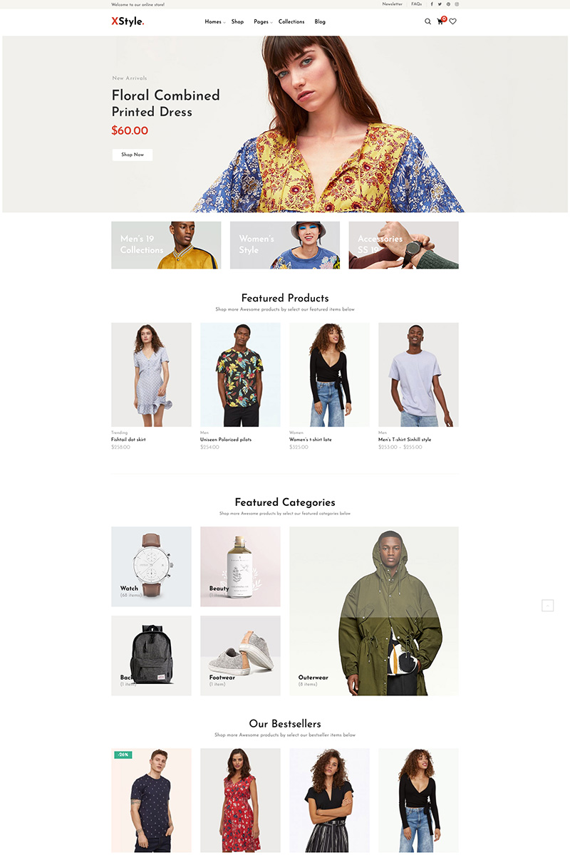 Responsivt XStyle - Fashion WooCommerce-tema #80439 - skärmbild