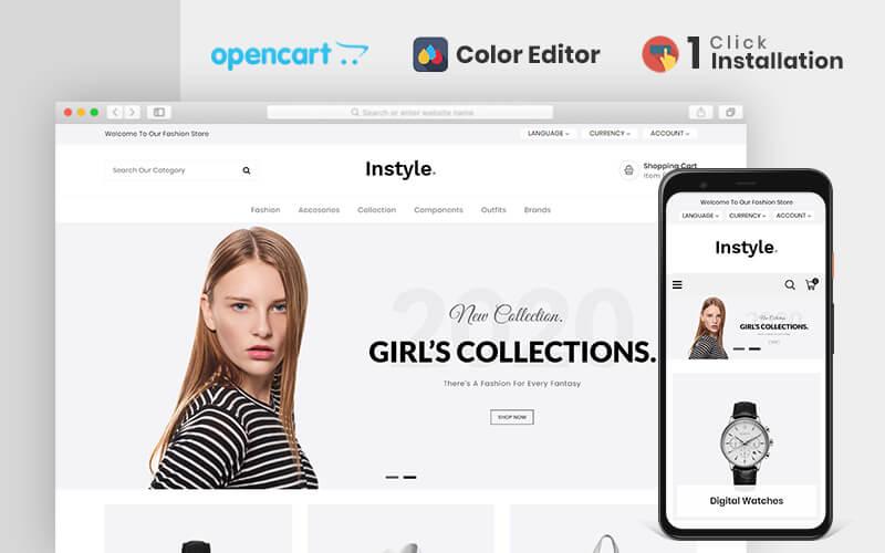 Reszponzív Instyle Fashion Responsive OpenCart sablon 80475