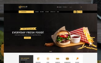 SpiceUp Foods Store OpenCart Template