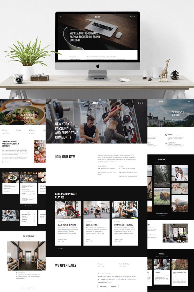 """Belton - Minimal Black and White Multipurpose"" thème Joomla adaptatif #80531 - screenshot"