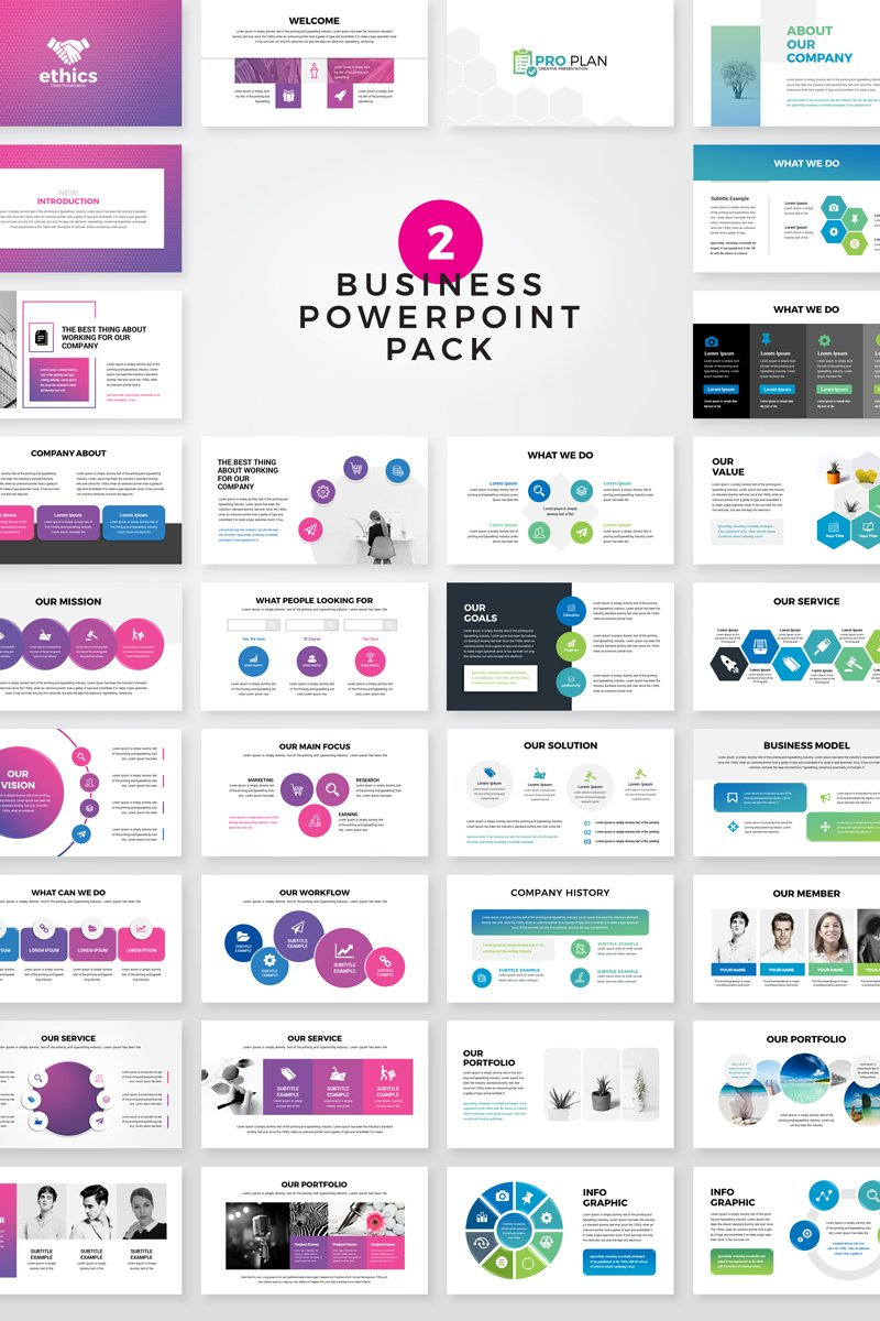 """""""Ethice -  Business Pack"""" modèle PowerPoint  #80520 - screenshot"""