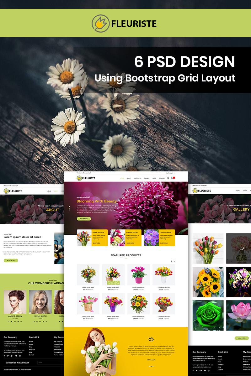 Fleuriste - Flower Shop PSD Template