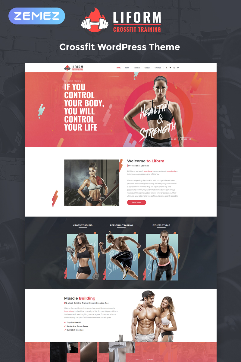 Liform - Crossfit Sport Elementor №80591 - скриншот