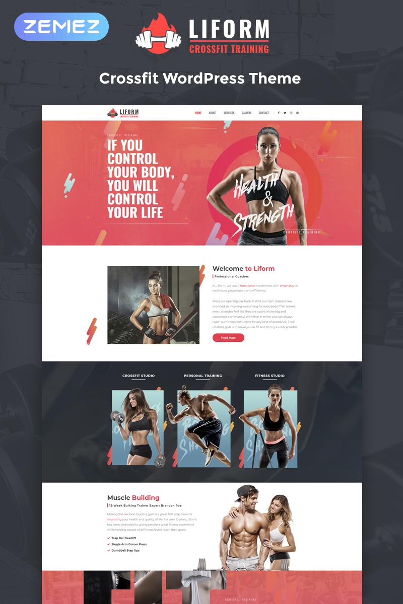 """Liform - Crossfit Sport Elementor"" Responsive WordPress thema №80591"