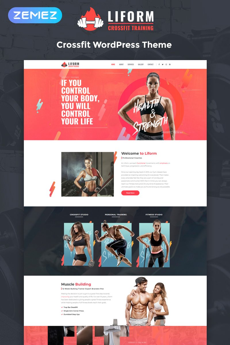 Liform - Crossfit Sport Elementor WordPress Theme