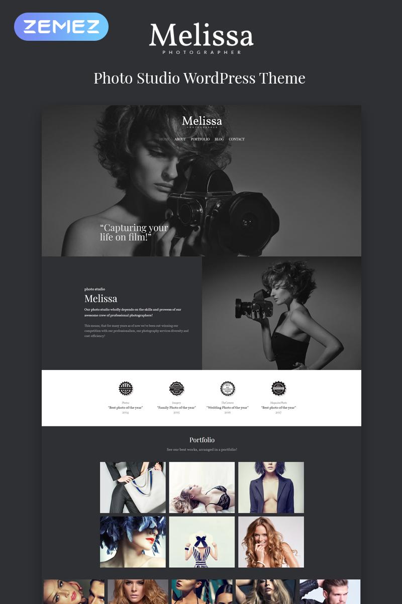 """Melissa - Photography Multipurpose Creative Elementor"" Responsive WordPress thema №80594"