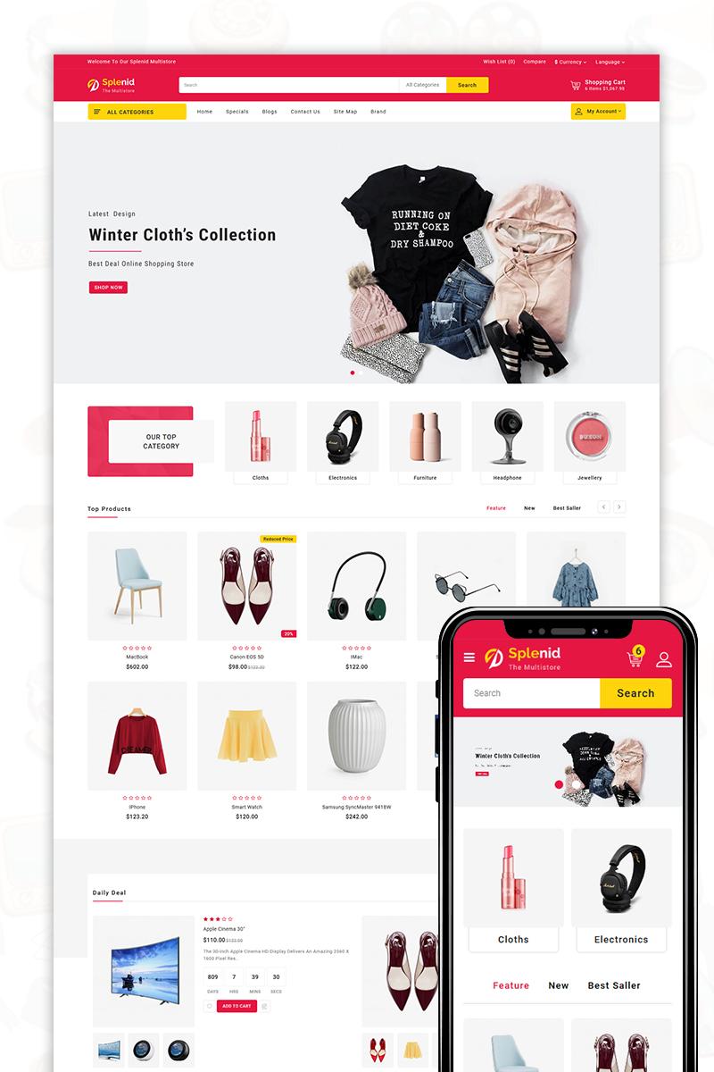"""Modello OpenCart Responsive #80504 """"Splenid - The Shopping Mall"""""""