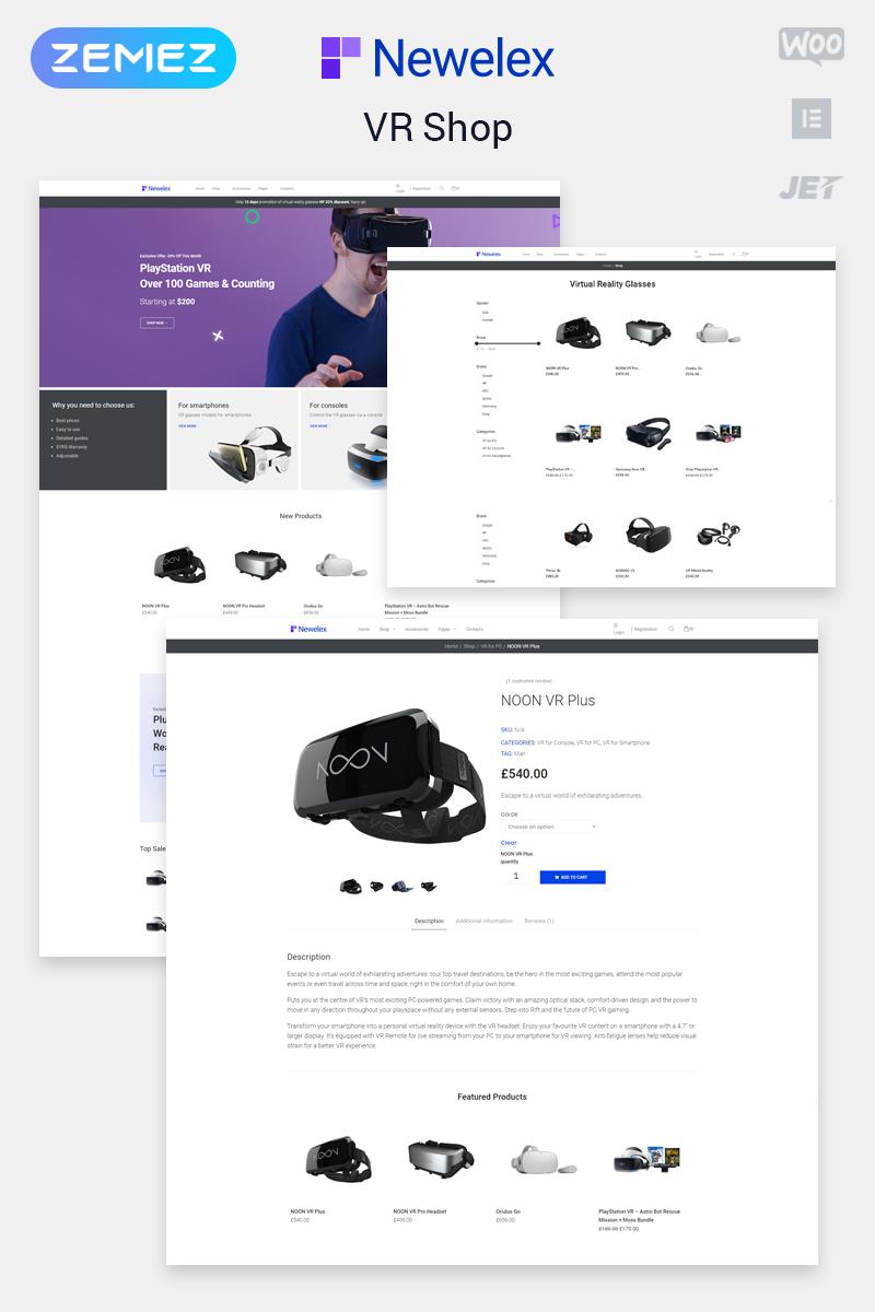 """""""Newelex - Electronics ECommerce Classic Elementor"""" thème WooCommerce adaptatif #80506"""