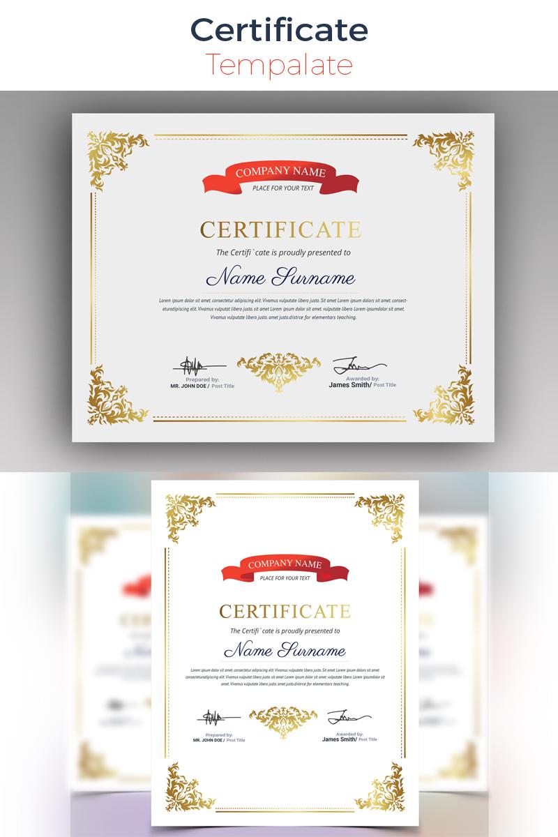 Premium Sophisticated Modern Certificate Template #80524