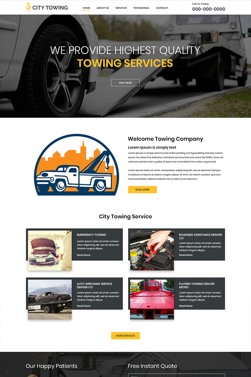 """PSD Vorlage namens """"City Towing - Towing Company"""" #80536"""