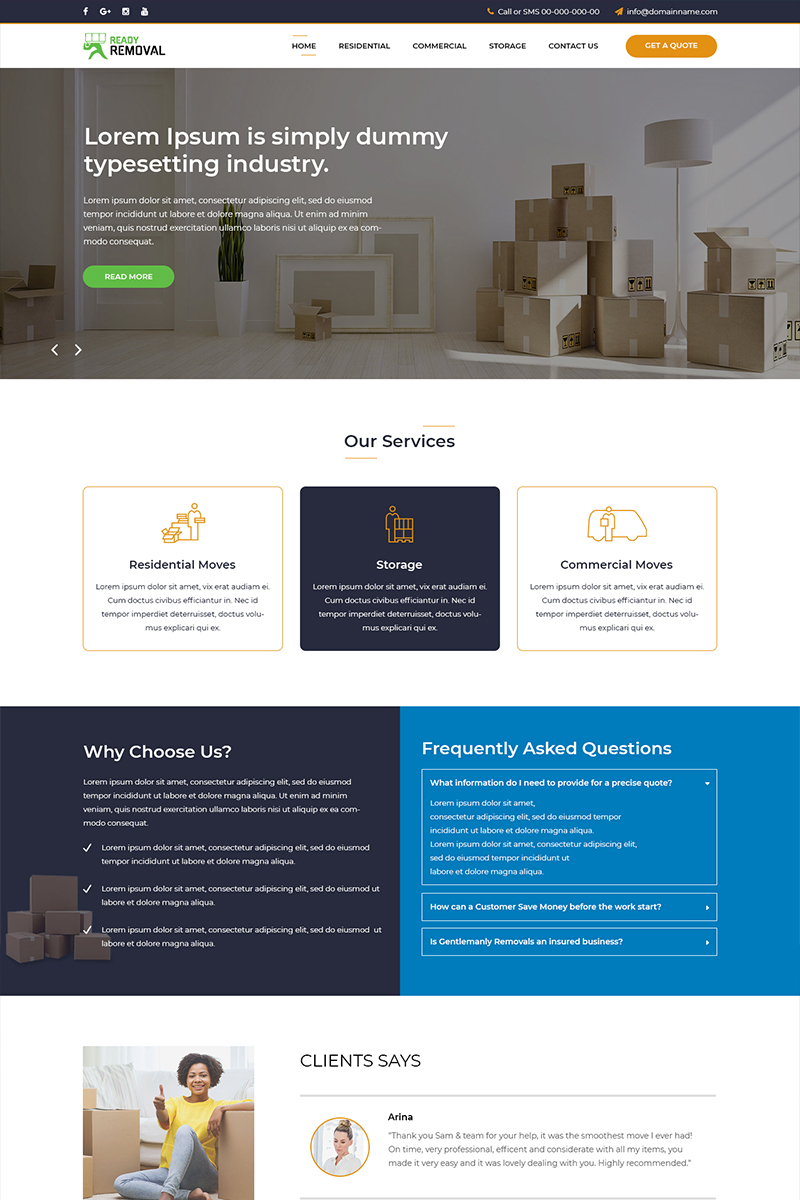 Ready Removal - Removals PSD Template