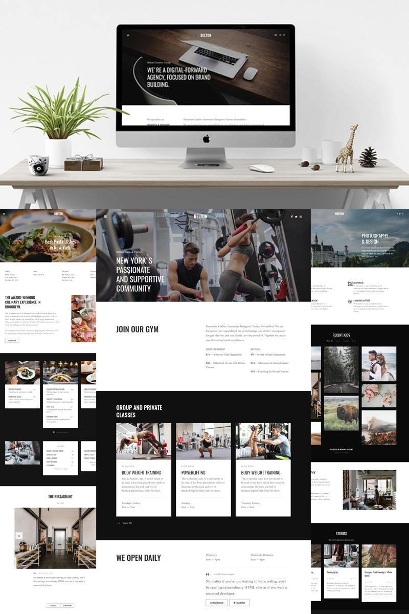 Responsywny szablon Joomla Belton - Minimal Black and White Multipurpose #80531