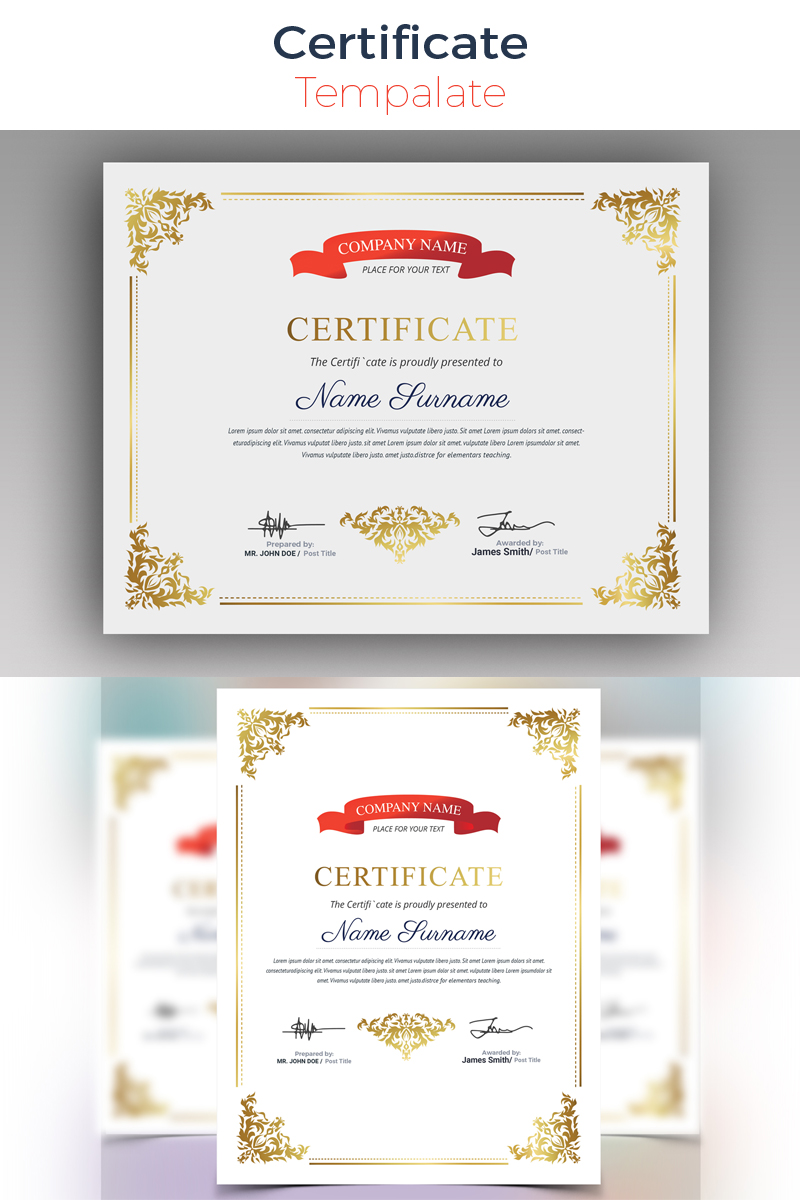 Sophisticated Modern Certificate Template