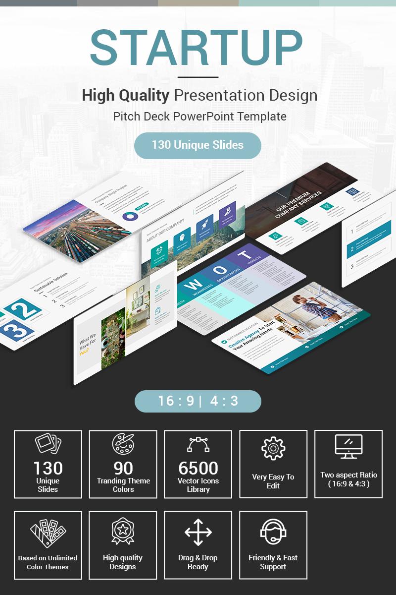 Startup Pitch Deck Template PowerPoint №80535 - captura de tela