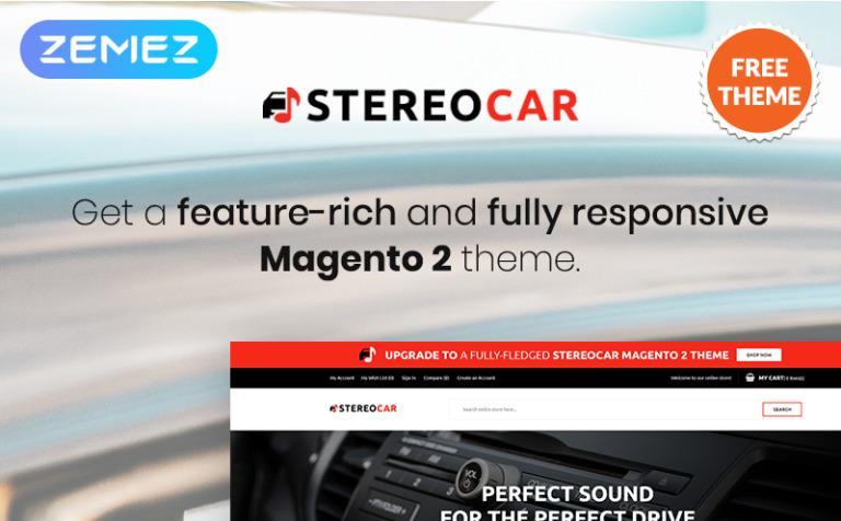 StereoCar - FREE Audio eCommerce Magento Theme #80500