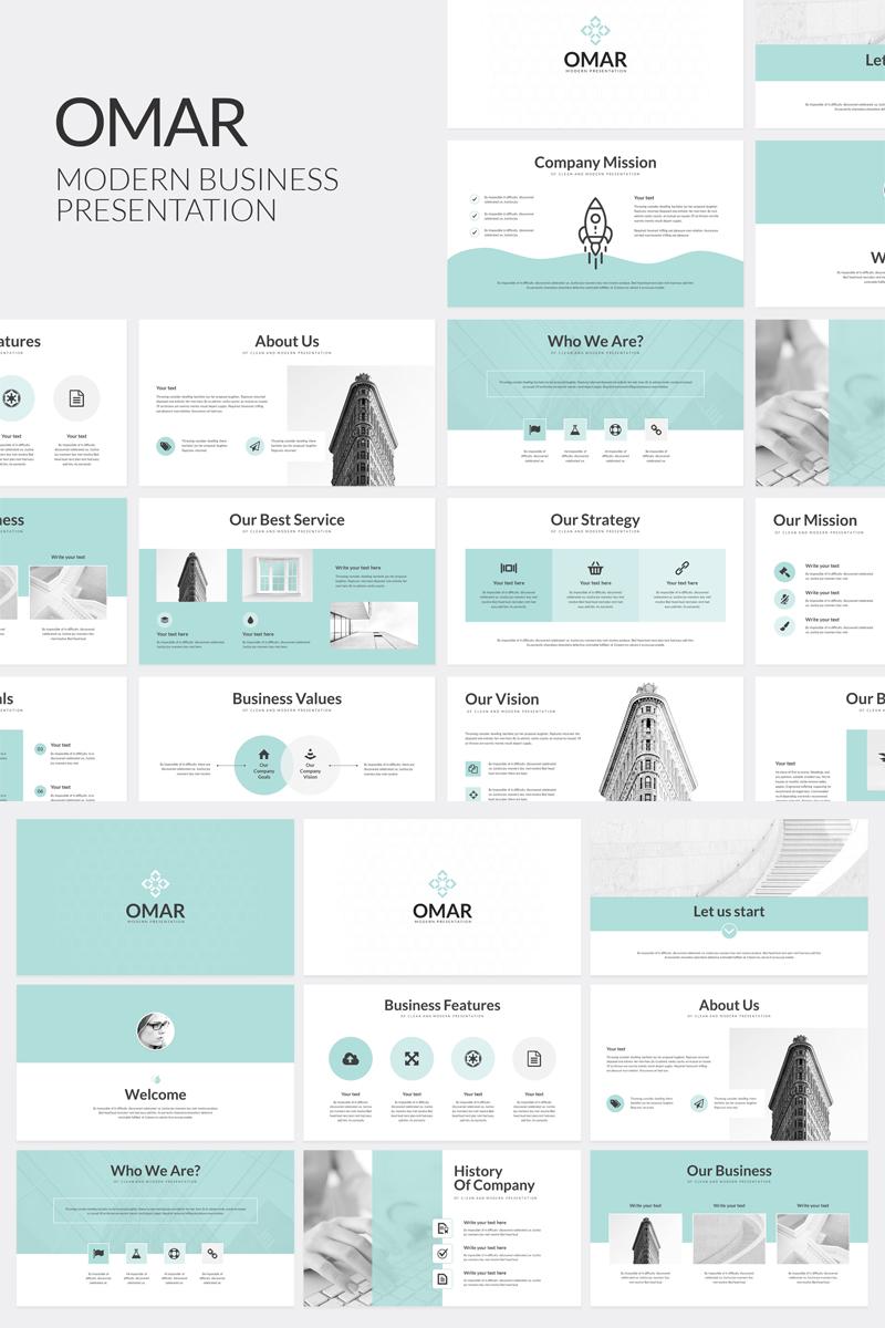 Szablon PowerPoint Omar Modern Business #80534 - zrzut ekranu