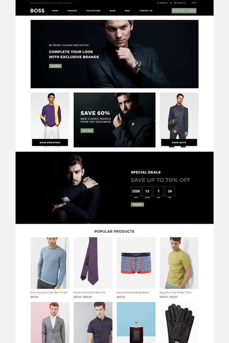 BOSS - Apparel eCommerce Modern Shopify Theme