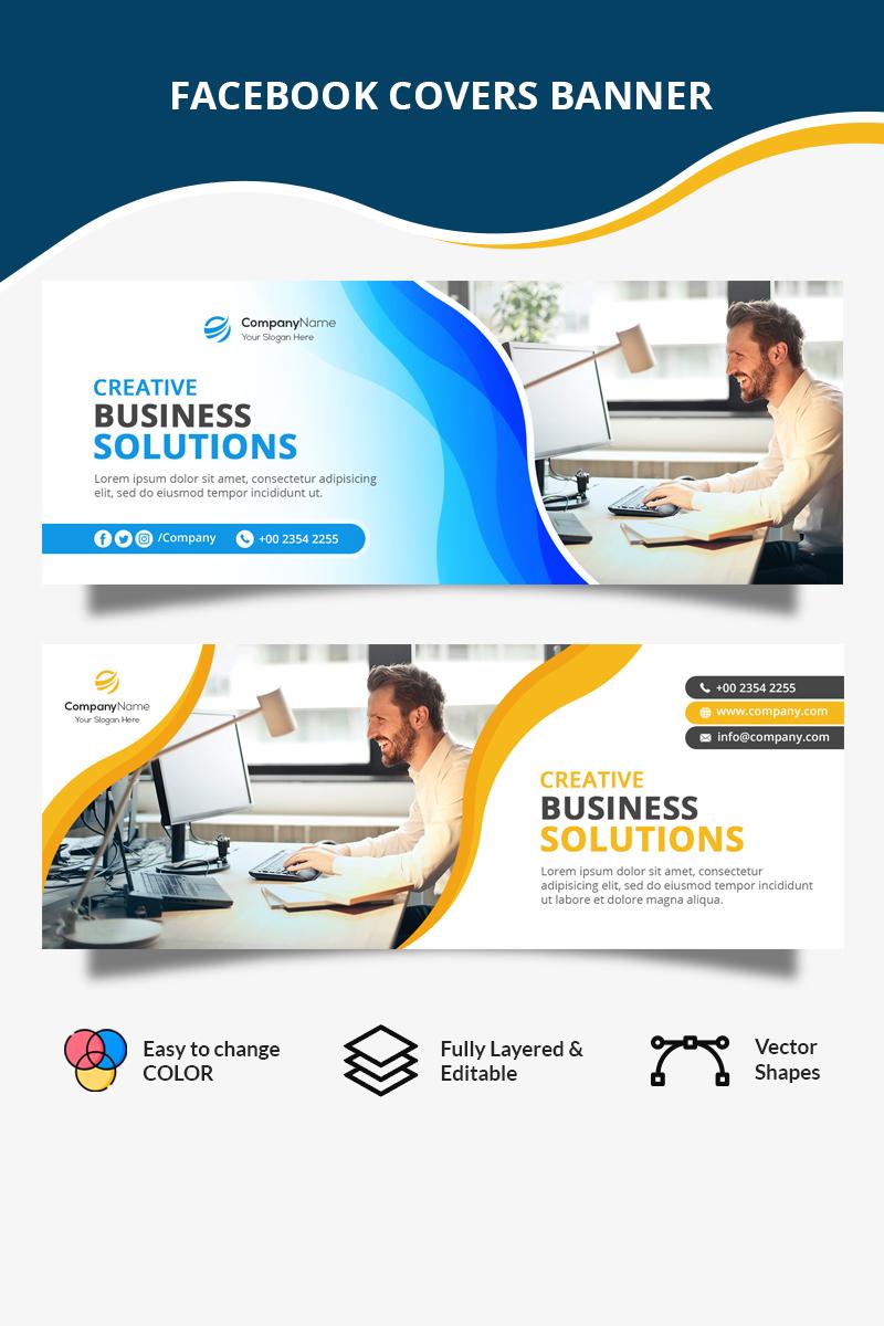 """""""Business Facebook Cover"""" média social  #80625 - screenshot"""