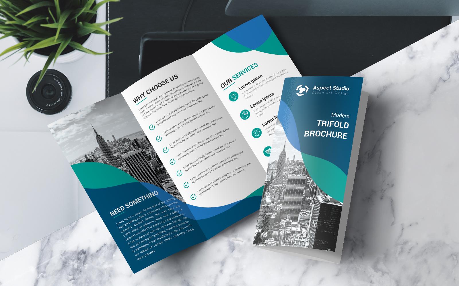 """Business Growth Tri-fold Brochure"" 企业设计模板 #80699"