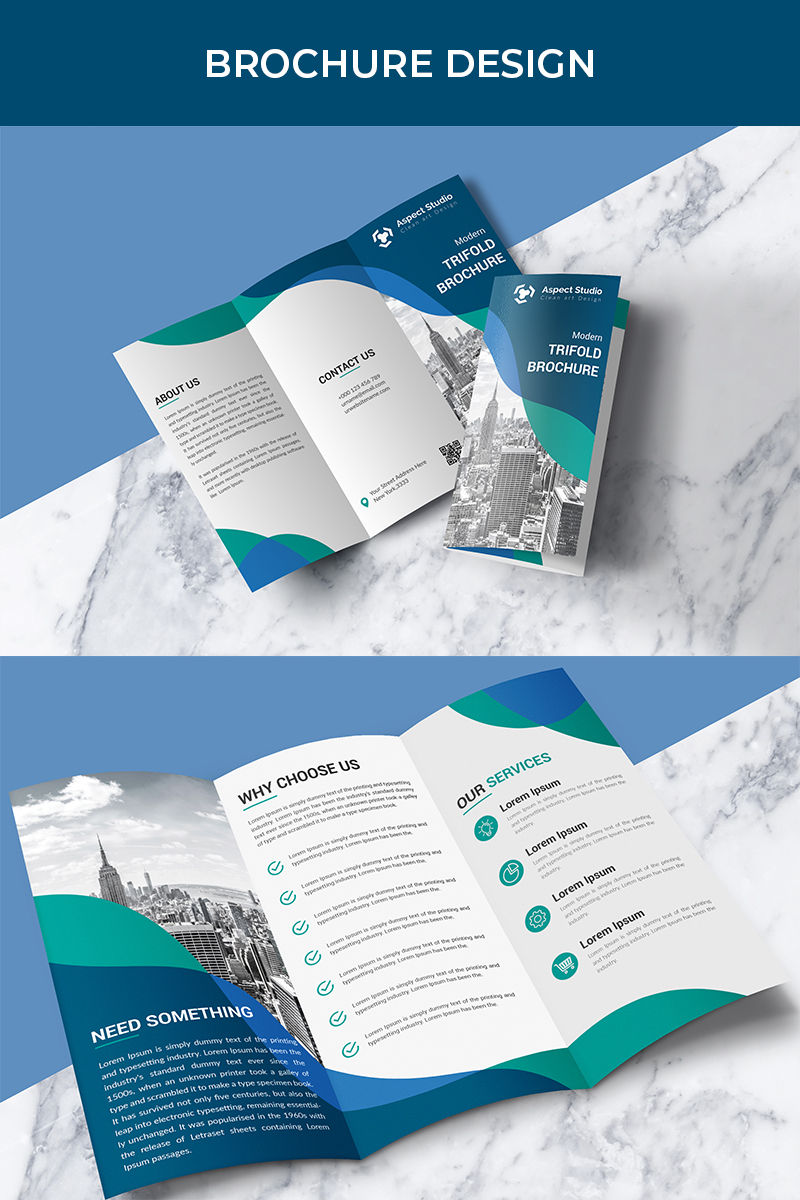 """Business Growth Tri-fold Brochure"" 企业设计模板 #80699"