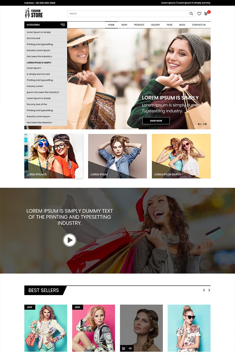 Fashion Store - Multipurpose Ecommerce PSD Template
