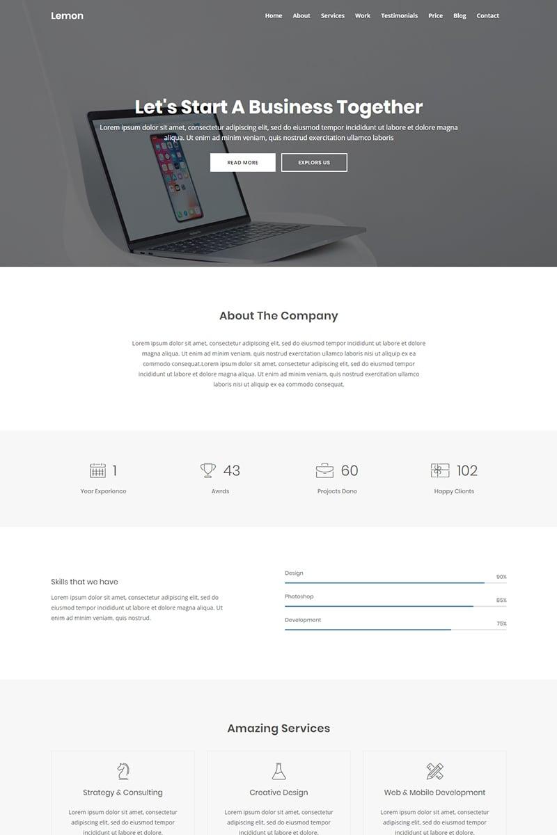 Lemon - Business Landing Page Template