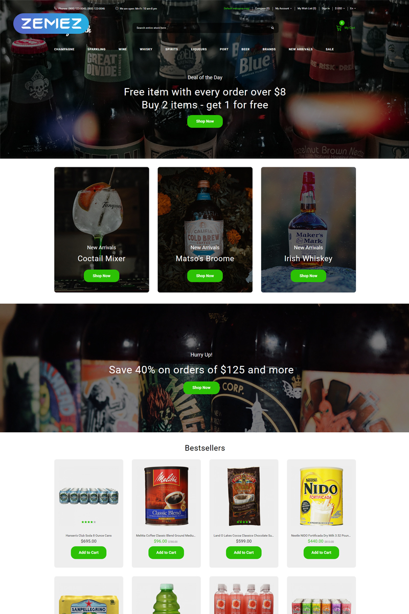 """""""Lightdix - Lighting & Electricity Multipage Clean"""" Responsive OpenCart Template №80674"""