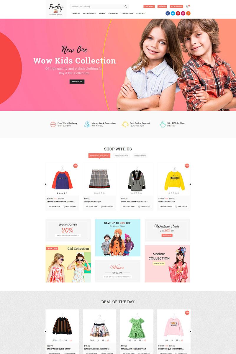Responsywny szablon Shopify Funky Fashion Sectioned #80652
